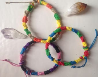 Colored Hemp Bracelets