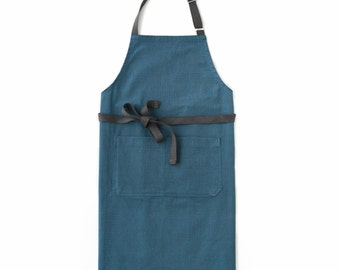 Navy Blue Chef's Kitchen Apron (Regular Size)