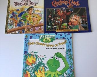 The Muppets movie story book tie-ins Muppet Treasure Island Muppet Christmas Carol Jim Henson
