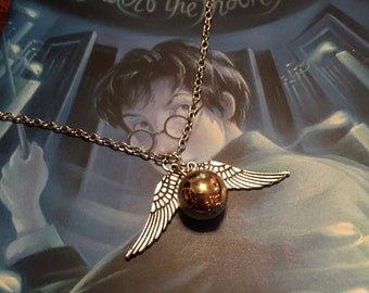 Harry Potter Golden Snitch Necklace-gift bag included