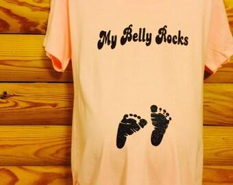 My Belly Rocks maternity tee
