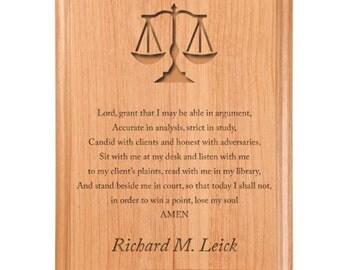 Lawyer Prayer Plaque