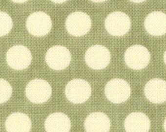 Cosmo Cricket Davis in Sage Circa 1934 fabric by Moda cream dots on sage green 37007 12