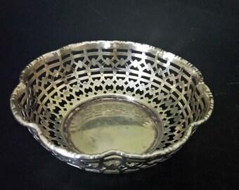 Antique Silver Plate Bon Bon Dish Trinket Dish Made In England