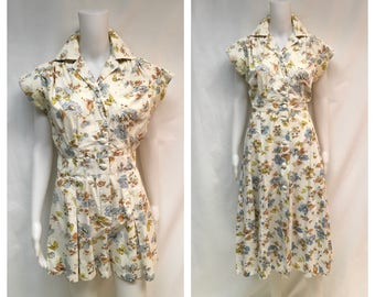 1930's to 1940's Playsuit Romper with Skirt