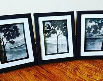 Black & White Landscape Set
