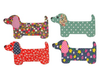 4 Dachshund Nail Files - Assorted - Sass & Belle Collection. Gift idea. Stocking filler. Beauty. Personal care.