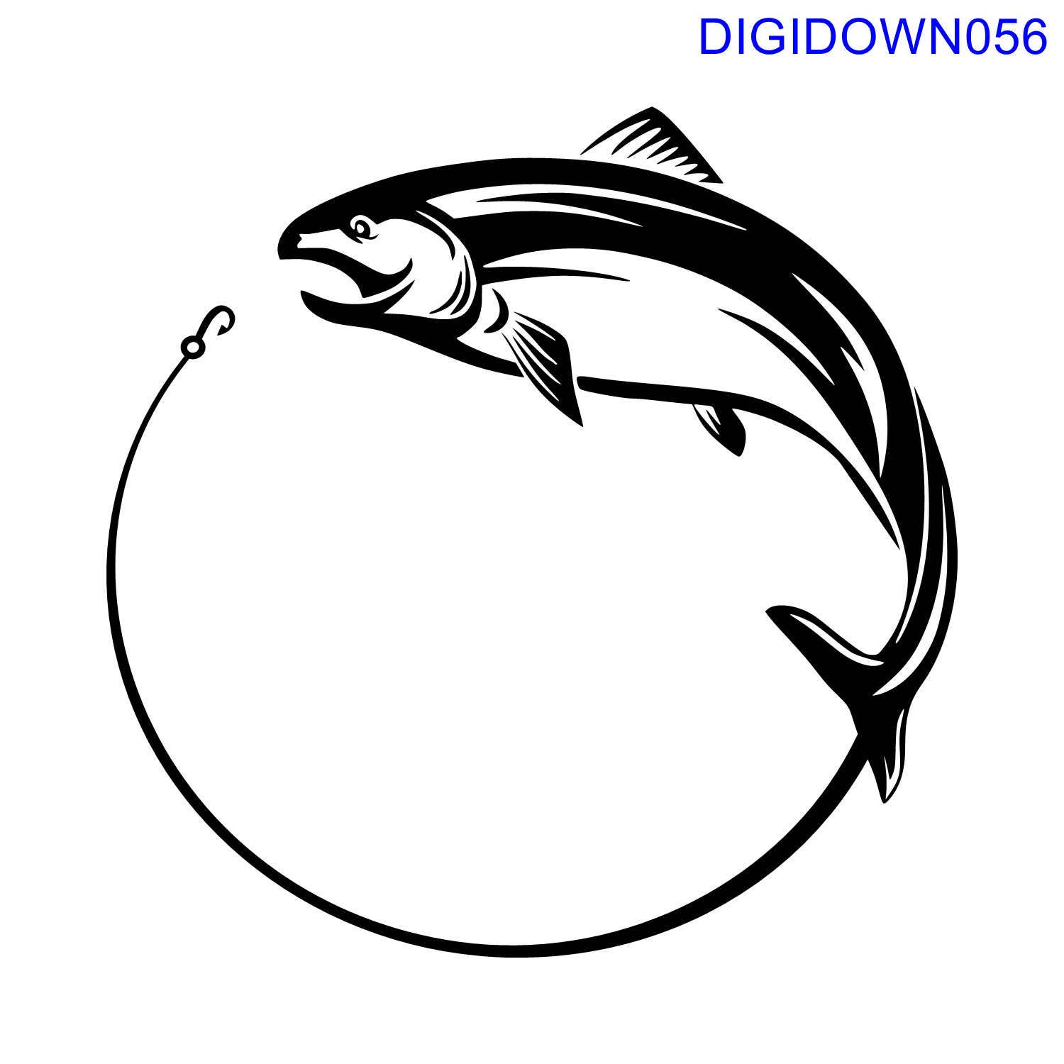 Fish and Hook SVG Cut File mtc svg pdf eps ai dxf png - photo#21