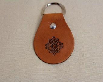 Leather Key Fob Celtic Knot / Key Chain / Celtic Bird /