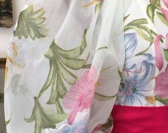 1970s Gown/ Vintage Gown/ Vintage Dress/ 1970s Dress