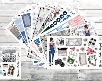 Boss Babe Planner Sticker Kit Deluxe, planner stickers Erin Condren, planner stickers, planner stickers weekly kit, ec sticker kit