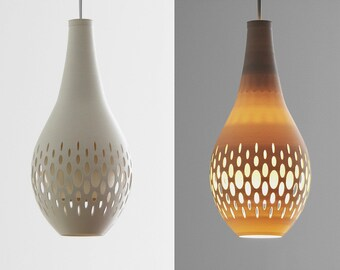 White or Lite Gray 3d Printed Chandelier Lamp