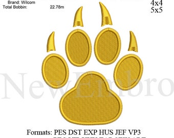 Tiger paw print embroidery,Paw print embroidery machine,embroidery pattern . embroidery designs No 486