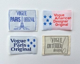 Vogue Sew in Labels : Couturier, Paris Original, American Designer & Diane Von Fonsburg