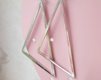 Earrings large triangles