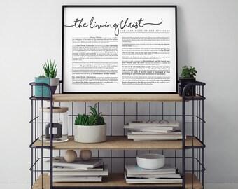 Horizontal Living Christ Print- LDS- Various Sizes