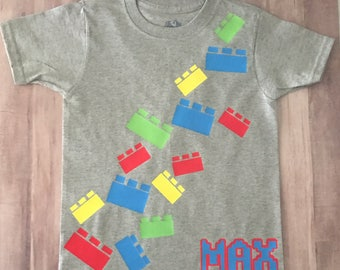 Lego t-shirt/birthday/Legoland/Lego blocks
