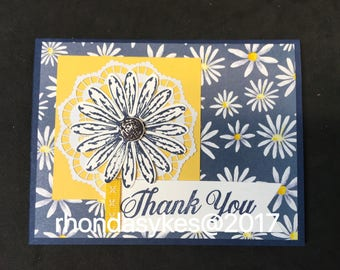 Handmade Stampin up Daisy Thank You