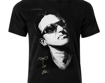 U2 Bono Signature T-Shirt T-Shirt Unique Gift
