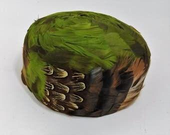 Incredible Evalan Varon Exclusive Feathered Pillbox Ladies Hat