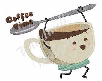Coffee Time - Machine Embroidery Design