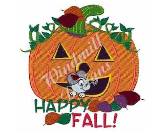 Happy Fall Jack O Lantern - Machine Embroidery Design