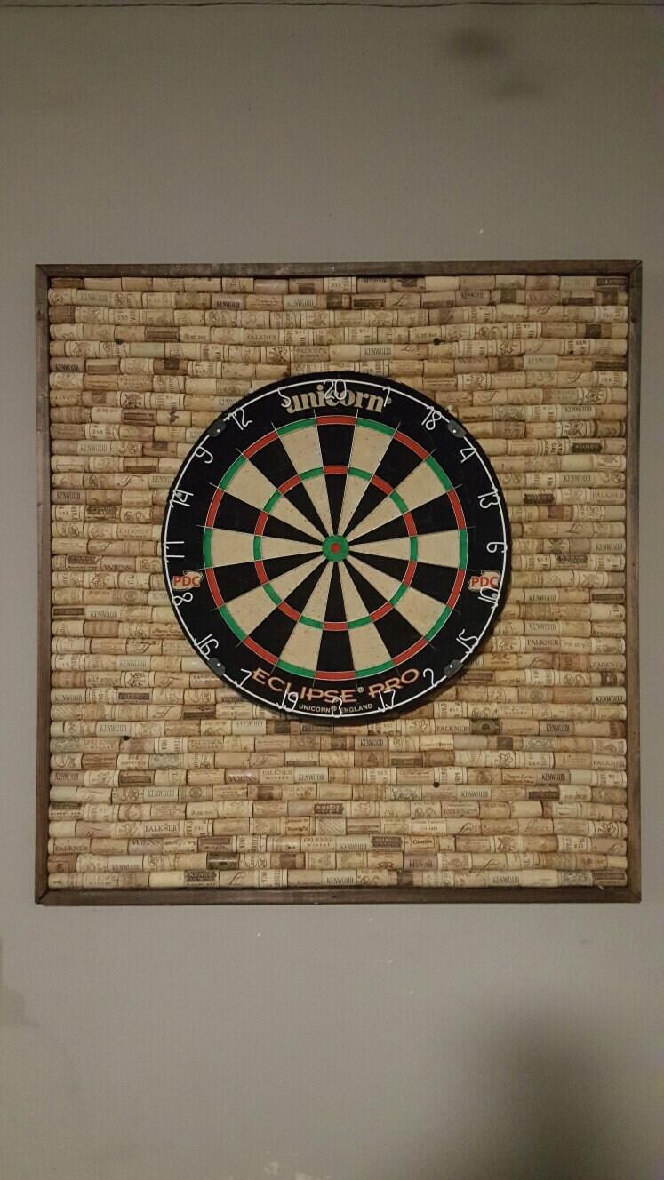 wine cork dartboard backer. Black Bedroom Furniture Sets. Home Design Ideas