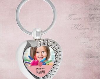 MOM personalized keychain