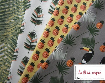 "set of 4 coupons of 100% cotton patchwork 50 x 50 cm ""Tropic"""