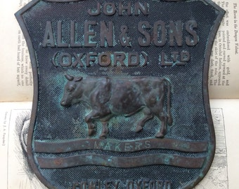 John Allen & Sons (Oxford) Ltd, Bronze Steam Engine Plaque.