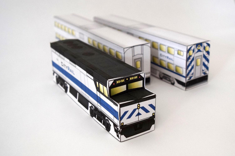 Make Your Own 3d Model Commuter Train Craft Set Railroad