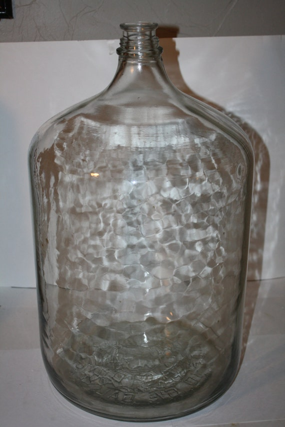 1975 Owens-Illinois 6 1/2 Gallon Thick Glass Water Bottle Jug/ Carboy / Demijohn