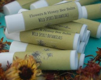 Flowers & Honey Bee Balm: Calendula Lip Balm
