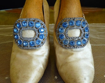 Shoe Buckles, antique shoes, edwardian shoes, ca. 1910