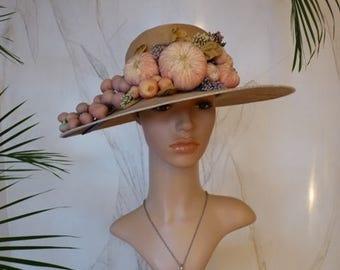 1920 Distinctive hat from Paris Buffalo, antique hat, 1920s