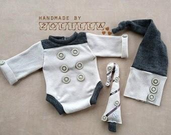 Newborn romper, hat, grenchtree , set,  photoprops , newbornprop
