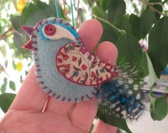Bird Ornament/Handmade Bird Ornament/Blue Bird Ornament