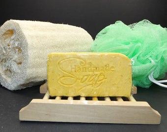 Handmade Lemon Chiffon - Oatmeal & Shea Butter Bar Soap, Homemade, Artisan