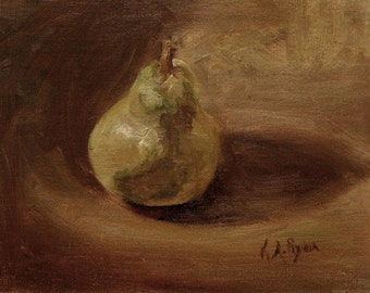 Pear Original Fruit Oil Painting
