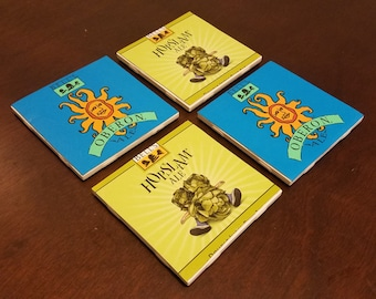 Bell's Brewery Homemade Ceramic Beer Coasters (Set of 4)