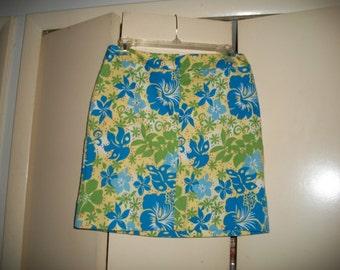 Vintage Willi Smith Floral Multi-Color Skirt Size 8