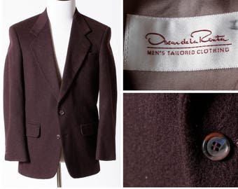 Vintage Oscar de la Renta Blazer Jacket Sport Coat Suit - 90's Retro 38R Medium M