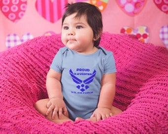 Proud Air Force Son Proud Air Force Daughter Infant Tee