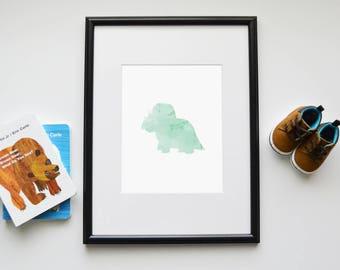 Triceratops Dinosaur Printable - Wall Art
