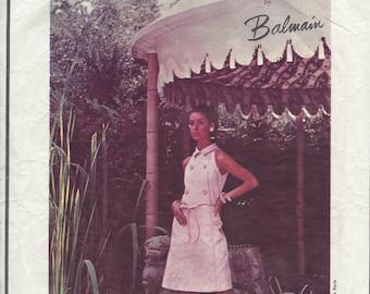 1960s Vintage VOGUE Sewing Pattern B36 Dress  (1216) By PIERRE BALMAIN