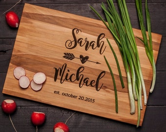 Personalized Wedding Cutting Board | Engraved Cutting Board | Housewarming Gift | Custom Cutting Board | Wedding Gifts Personalized W13