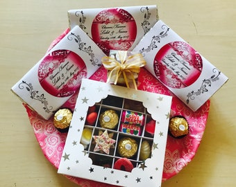 Personalised gift chocolate tray