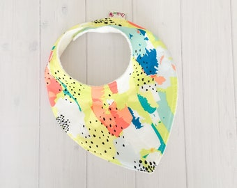 Modern Dribble Bib - Citrus Splash