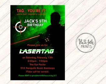 Laser Tag Invitation, Laser Tag Party Invitation, Laser Tag Invitation, Printable Laser Tag Birthday Invite, Laser Invitation