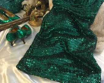 Emerald Green Sequin Dress